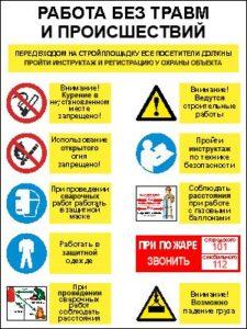 Плакат по технике безопасности